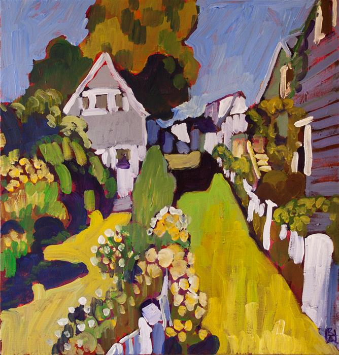 Original art for sale at UGallery.com | Provincetown by ROBERT HOFHERR | $700 |  | 20' h x 20' w | ..\art\acrylic-painting-Provincetown