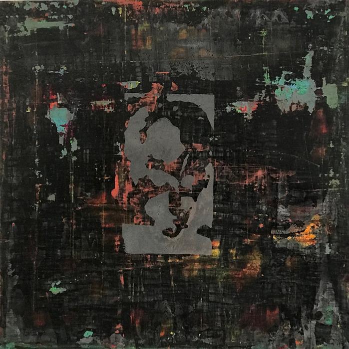 Original art for sale at UGallery.com | Keyhole 4 by Quin de la Mer | $850 | mixed media artwork | 20' h x 20' w | ..\art\mixed-media-artwork-Keyhole-4