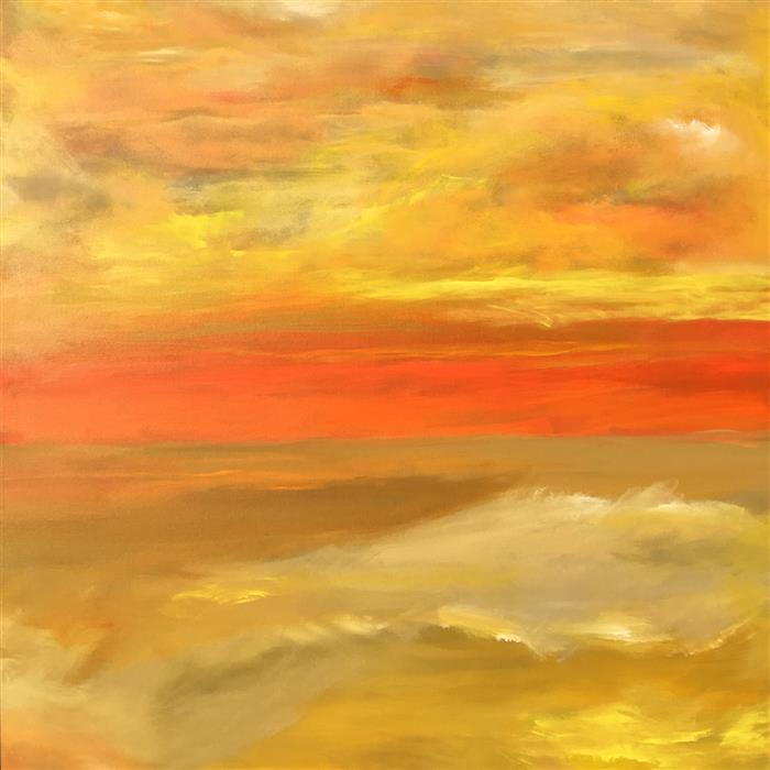 Original art for sale at UGallery.com | SunDream VI by Michele Morata | $4,800 | oil painting | 48' h x 48' w | ..\art\oil-painting-SunDream-VI
