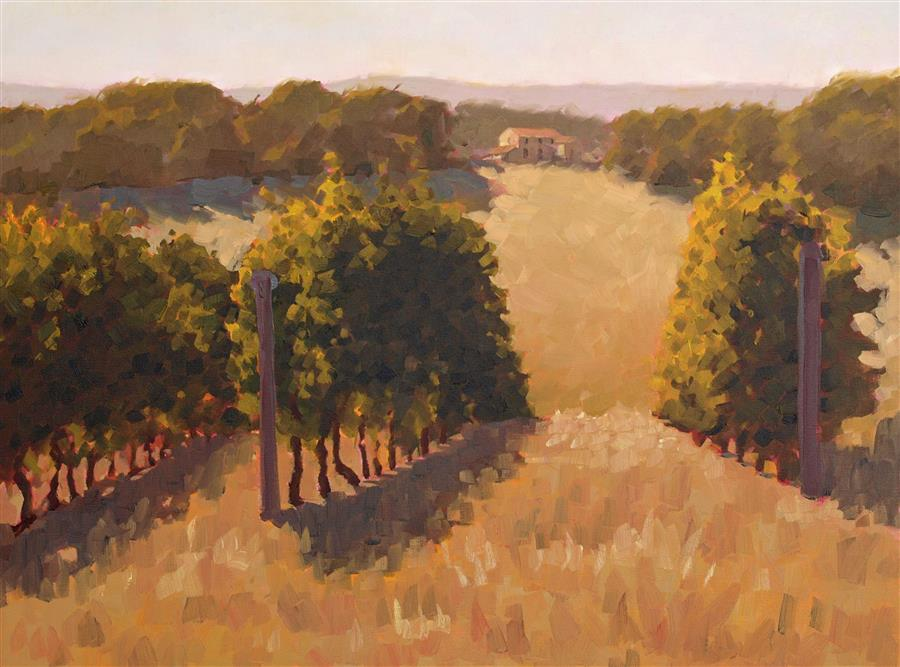 Original art for sale at UGallery.com | Early September Afternoon by RODGERS NAYLOR | $1,675 |  | 18' h x 24' w | ..\art\oil-painting-Early-September-Afternoon