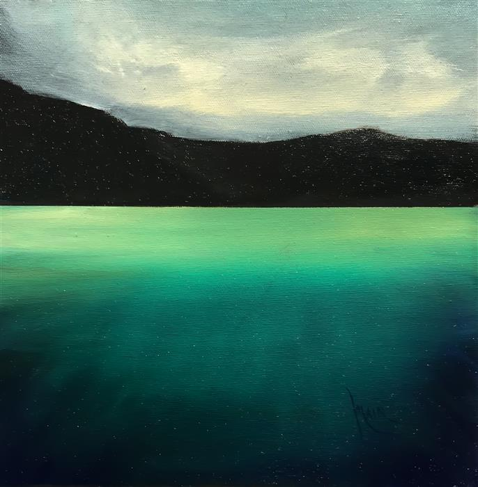 Original art for sale at UGallery.com | Emerald Greens by Mandy Main | $525 | oil painting | 12' h x 12' w | ..\art\oil-painting-Emerald-Greens