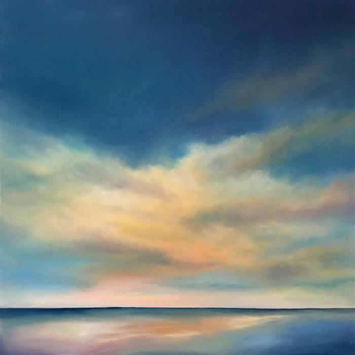Original art for sale at UGallery.com | Warm Sea Light by NANCY HUGHES MILLER | $950 |  | 24' h x 24' w | ..\art\oil-painting-Warm-Sea-Light