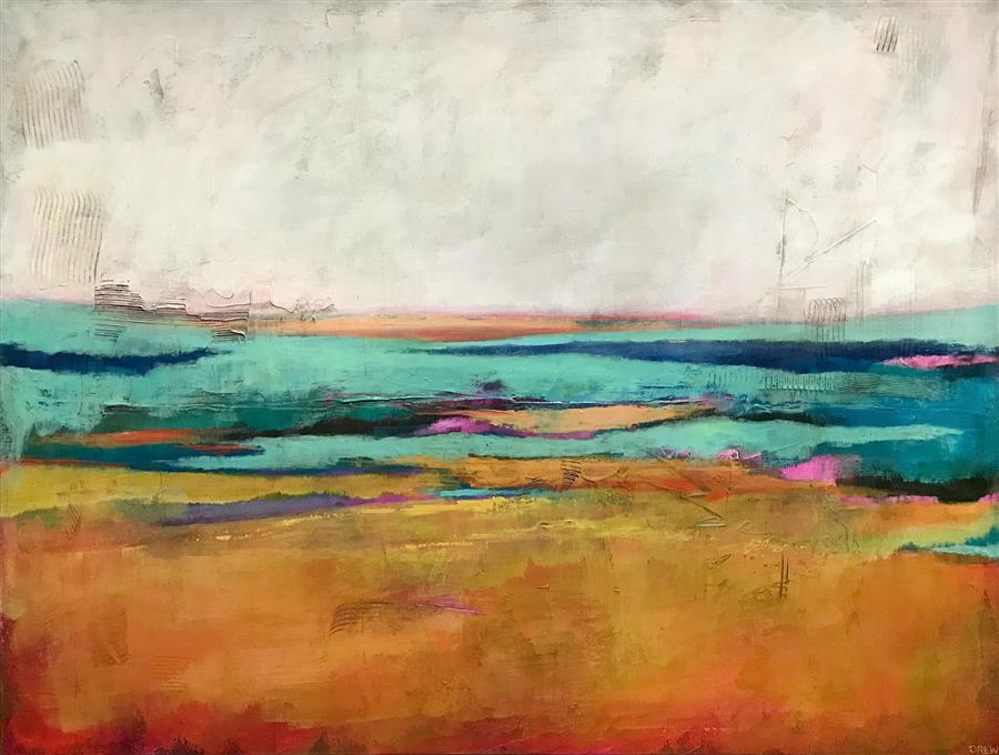 Original art for sale at UGallery.com | Tequila Sunrises by Drew Noel Marin | $2,775 | acrylic painting | 30' h x 40' w | ..\art\acrylic-painting-Tequila-Sunrises