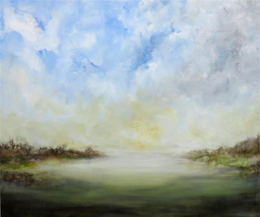 Original art for sale at UGallery.com | Resting Place by JENN WILLIAMSON | $1,750 |  | 30' h x 36' w | ..\art\acrylic-painting-Resting-Place