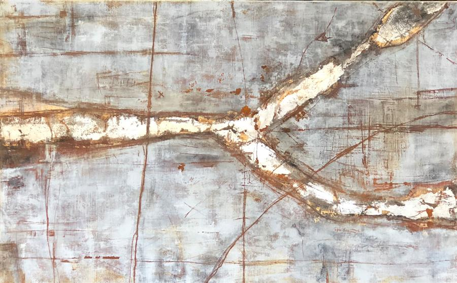 Original art for sale at UGallery.com | The Light From Within: Furcula Major by Maya Malioutina | $3,475 | mixed media artwork | 30' h x 48' w | ..\art\mixed-media-artwork-The-Light-From-Within-Furcula-Major