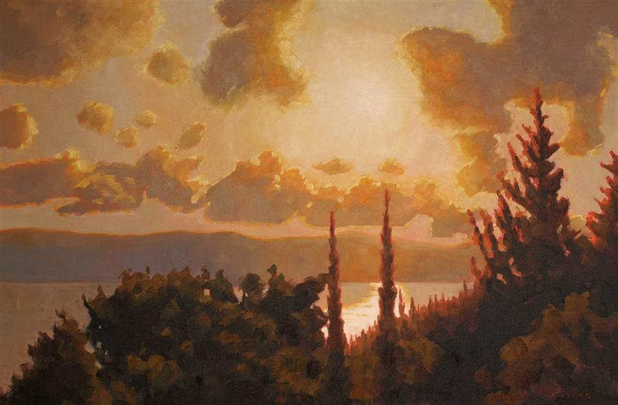 Original art for sale at UGallery.com | Adriatic Light by Rodgers Naylor | $3,150 | oil painting | 24' h x 36' w | ..\art\oil-painting-Adriatic-Light