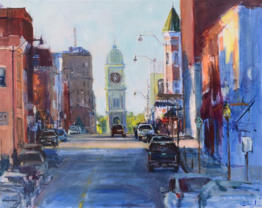 Original art for sale at UGallery.com | 534 Dubuque by Mickey Cunningham | $1,375 | oil painting | 24' h x 30' w | ..\art\oil-painting-534-Dubuque
