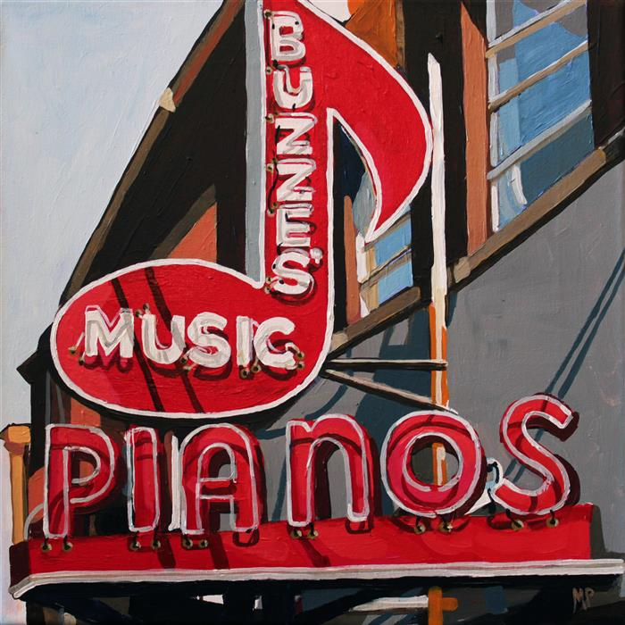 Original art for sale at UGallery.com | Pianos by MELINDA PATRICK | $425 |  | 12' h x 12' w | ..\art\acrylic-painting-Pianos