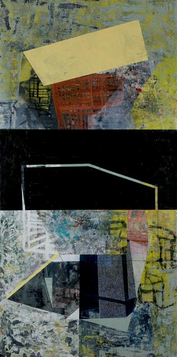 Original art for sale at UGallery.com | Driven by Continuous Addition by Linnie Brown | $1,200 | mixed media artwork | 36' h x 18' w | ..\art\mixed-media-artwork-Driven-by-Continuous-Addition