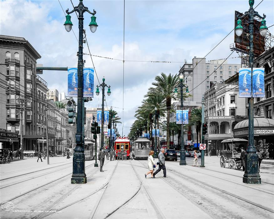 Original art for sale at UGallery.com | Canal Street - New Orleans by Mark Hersch | $50 | photography | 32' h x 40' w | ..\art\photography-Canal-Street-New-Orleans