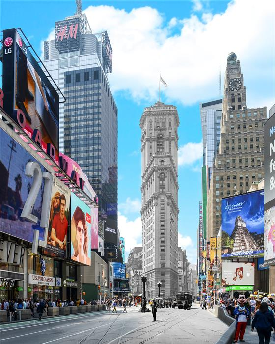 Original art for sale at UGallery.com | Times Square - New York by Mark Hersch | $25 | photography | 32' h x 40' w | ..\art\photography-Times-Square-New-York-62778