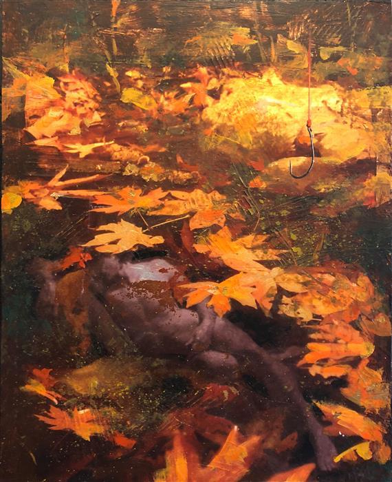 Original art for sale at UGallery.com | Catch by Darlene McElroy | $575 | mixed media artwork | 14' h x 11' w | ..\art\mixed-media-artwork-Catch