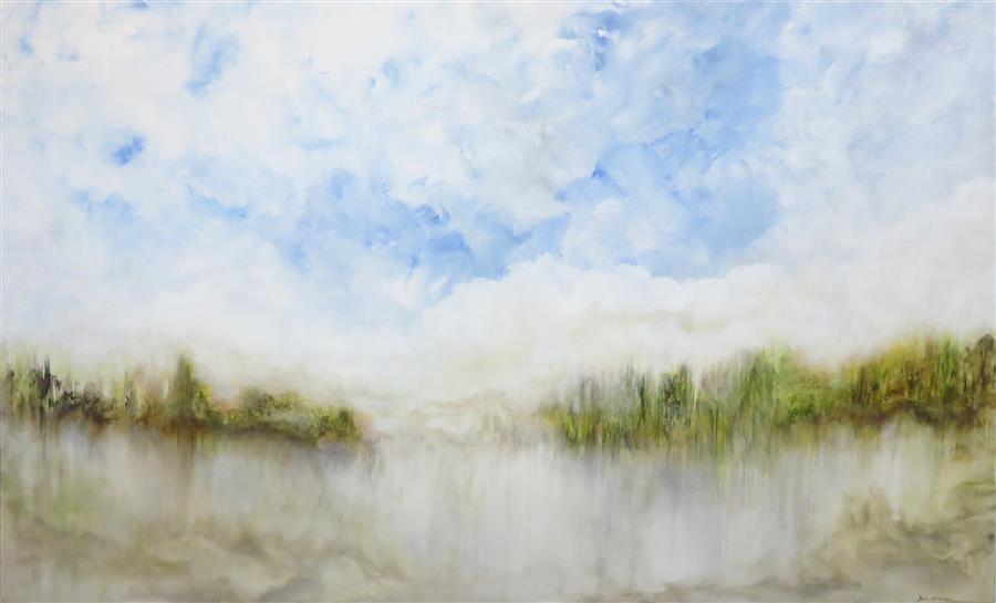 Original art for sale at UGallery.com | Let Mercy Fall by JENN WILLIAMSON | $4,075 |  | 44' h x 60' w | ..\art\acrylic-painting-Let-Mercy-Fall