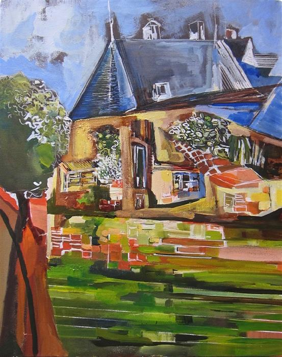 Original art for sale at UGallery.com | French Countryside Part III by Colette Wirz Nauke | $1,175 | acrylic painting | 30' h x 24' w | ..\art\acrylic-painting-French-Countryside-Part-III