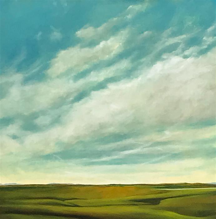 Original art for sale at UGallery.com | Early Spring by Mandy Main | $950 | oil painting | 24' h x 24' w | ..\art\oil-painting-Early-Spring-62799