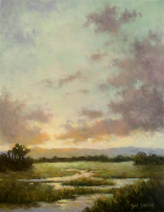 Original art for sale at UGallery.com | Looking East by Gail Greene | $350 | oil painting | 14' h x 11' w | ..\art\oil-painting-Looking-East