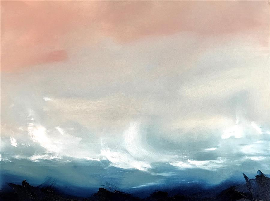 Original art for sale at UGallery.com | Flatirons by Sarah Parsons | $500 | oil painting | 18' h x 24' w | ..\art\oil-painting-Flatirons