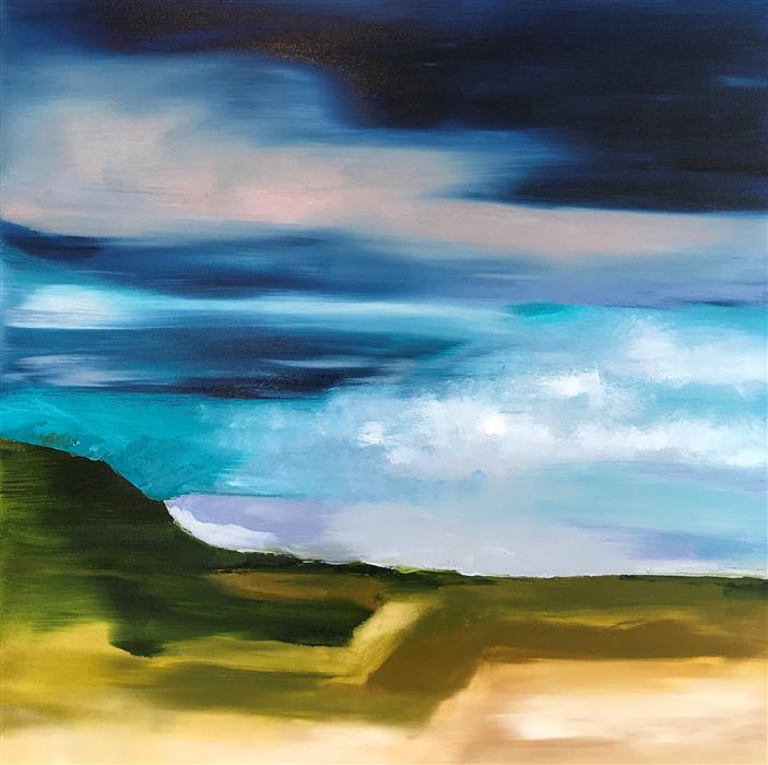 Original art for sale at UGallery.com | July 5th by Sarah Parsons | $800 | oil painting | 24' h x 24' w | ..\art\oil-painting-July-5th