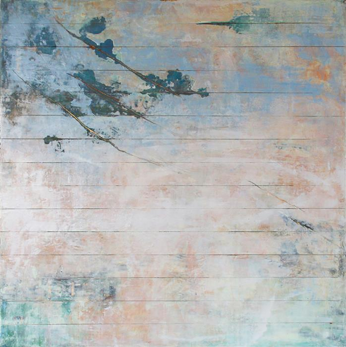 Original art for sale at UGallery.com | Lambent Series #4 by Martha McCowin | $2,400 | mixed media artwork | 30' h x 30' w | ..\art\mixed-media-artwork-Lambent-Series-4