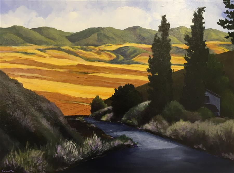 Original art for sale at UGallery.com | Above Dayton by Paul Lewing | $900 | acrylic painting | 18' h x 24' w | ..\art\acrylic-painting-Above-Dayton