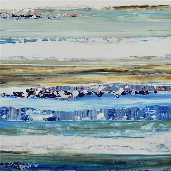 Original art for sale at UGallery.com | Aqua 01 by Lisa Carney | $725 | acrylic painting | 16' h x 16' w | ..\art\acrylic-painting-Aqua-01
