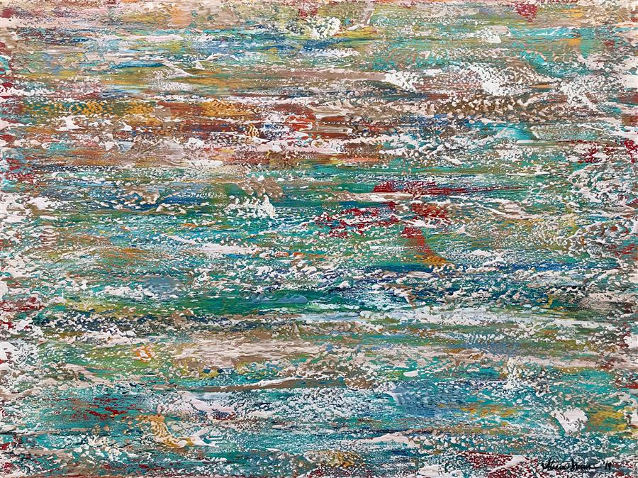 Original art for sale at UGallery.com | Drifting Off II by Alicia Dunn | $1,975 | acrylic painting | 30' h x 40' w | ..\art\acrylic-painting-Drifting-Off-II