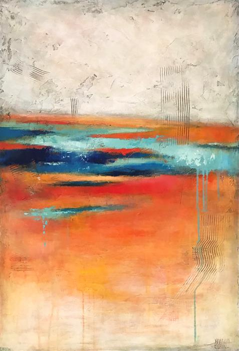 Original art for sale at UGallery.com | Tangerine by DREW NOEL MARIN | $1,900 |  | 36' h x 24' w | ..\art\acrylic-painting-Tangerine