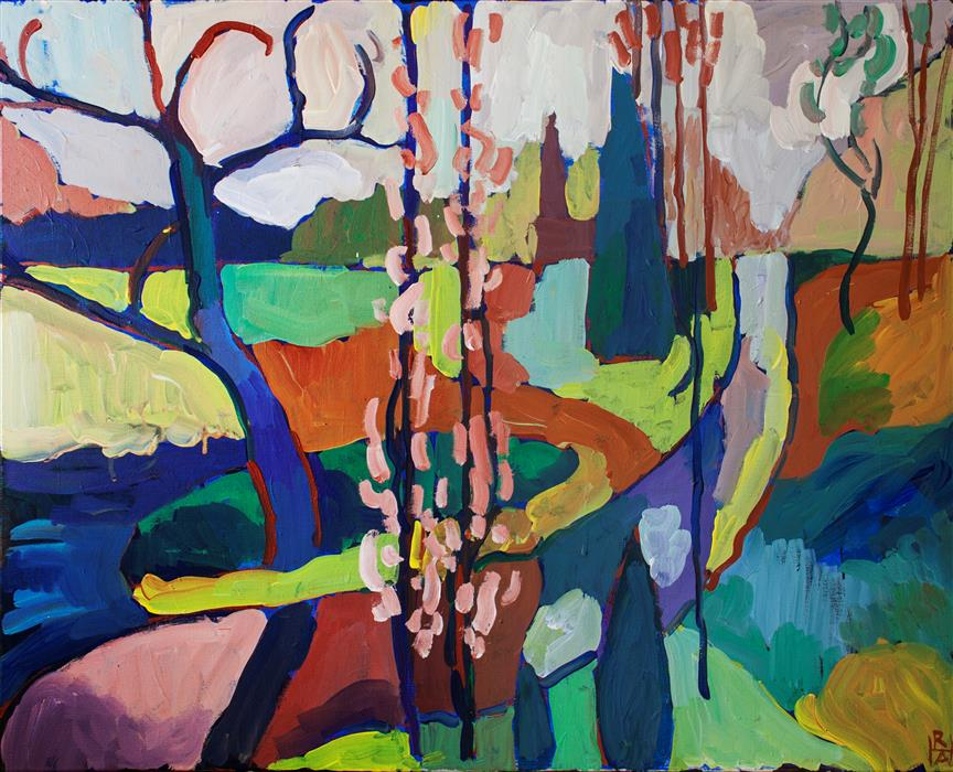 Original art for sale at UGallery.com | Rites of Spring by ROBERT HOFHERR | $1,075 |  | 24' h x 30' w | ..\art\acrylic-painting-Rites-of-Spring
