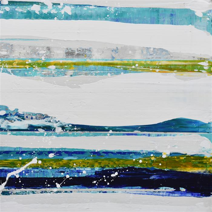 Original art for sale at UGallery.com | Aqua 08 by Lisa Carney | $725 | acrylic painting | 16' h x 16' w | ..\art\acrylic-painting-Aqua-08