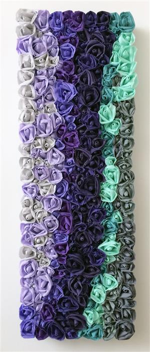 Original art for sale at UGallery.com | Amethyst Stream by Andrea Cook | $1,300 | fiber artwork | 36' h x 12' w | ..\art\fiber-artwork-Amethyst-Stream