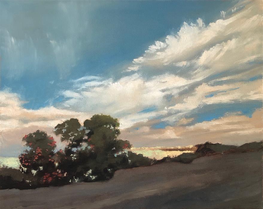 Original art for sale at UGallery.com | Westridge by Jesse Aldana | $725 | oil painting | 16' h x 20' w | ..\art\oil-painting-Westridge