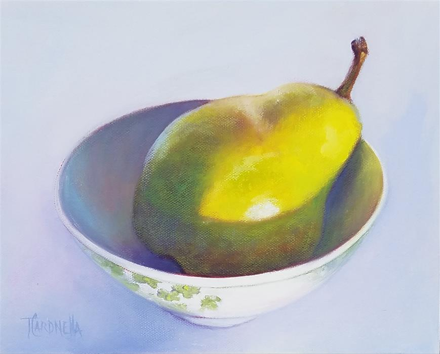 Original art for sale at UGallery.com | Pear Bowl, #3 by Tami Cardnella | $500 | oil painting | 8' h x 10' w | ..\art\oil-painting-Pear-Bowl-3