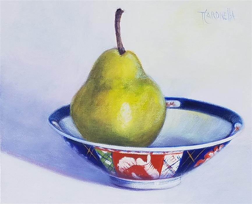 Original art for sale at UGallery.com | Pear Bowl, #4 by Tami Cardnella | $500 | oil painting | 8' h x 10' w | ..\art\oil-painting-Pear-Bowl-4