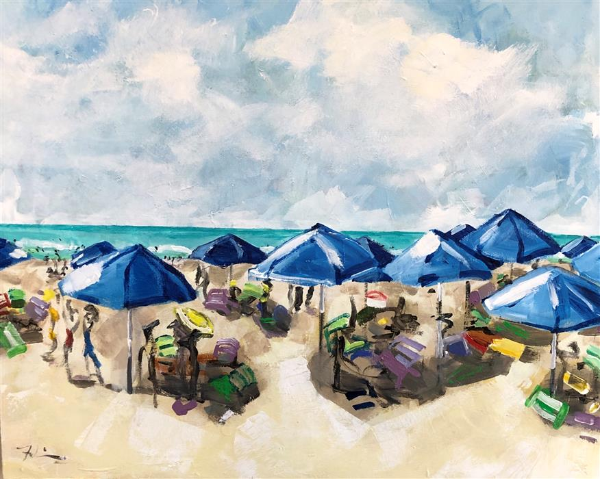 Original art for sale at UGallery.com | Sun Daze by Patricia Fabian | $2,375 | acrylic painting | 24' h x 30' w | ..\art\acrylic-painting-Sun-Daze