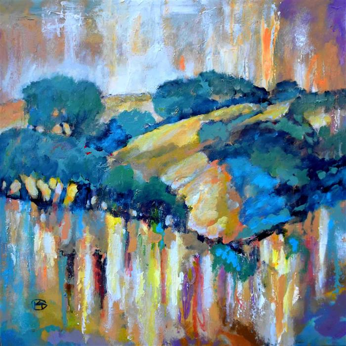 Original art for sale at UGallery.com | Patchy Fog in from the Coast by Kip Decker | $2,000 | acrylic painting | 30' h x 30' w | ..\art\acrylic-painting-Patchy-Fog-in-from-the-Coast