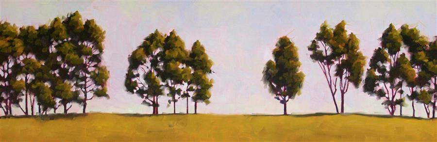 Original art for sale at UGallery.com | Tree Shapes by RODGERS NAYLOR | $1,725 |  | 12' h x 36' w | ..\art\oil-painting-Tree-Shapes