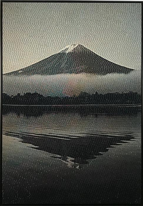 Original art for sale at UGallery.com | Mt. Fuji Sonification (Soft Synesthesia) by Jack R. Mesa | $7,200 | fiber artwork | 80' h x 56' w | ..\art\fiber-artwork-Mt-Fuji-Sonification-Soft-Synesthesia