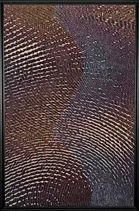 Original art for sale at UGallery.com | Sound as Paint I (Soft Synesthesia) by Jack R. Mesa | $1,800 | fiber artwork | 36' h x 24' w | ..\art\fiber-artwork-Sound-as-Paint-I-Soft-Synesthesia
