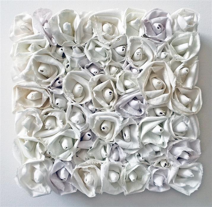 Original art for sale at UGallery.com | Delicate by Andrea Cook | $475 | fiber artwork | 10' h x 10' w | ..\art\fiber-artwork-Delicate