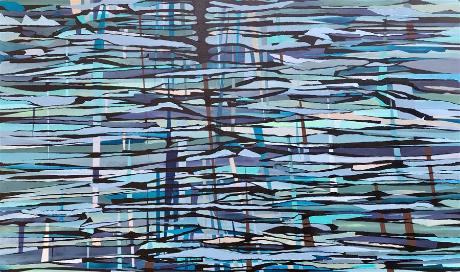 Original art for sale at UGallery.com | Strata 2 by ALICIA DUNN | $2,550 |  | 36' h x 60' w | ..\art\acrylic-painting-Strata-2