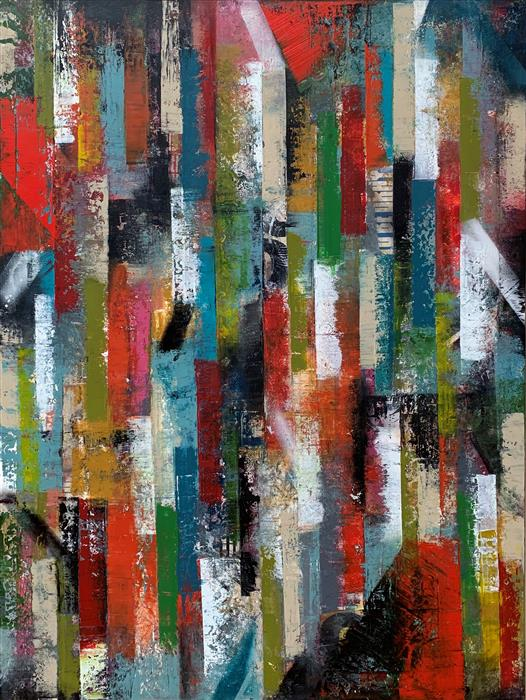 Original art for sale at UGallery.com | Mm25 by JANET HAMILTON | $3,775 |  | 48' h x 36' w | ..\art\mixed-media-artwork-Mm25