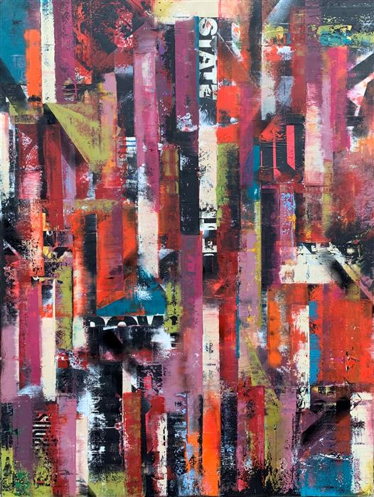 Original art for sale at UGallery.com | MMm21 by Janet Hamilton | $4,050 | mixed media artwork | 48' h x 36' w | ..\art\mixed-media-artwork-MMm21