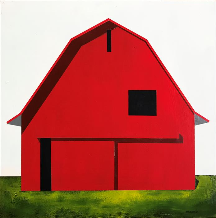 Original art for sale at UGallery.com | Well, Red by JUSTIN WHEATLEY | $575 |  | 12' h x 12' w | ..\art\acrylic-painting-Well-Red