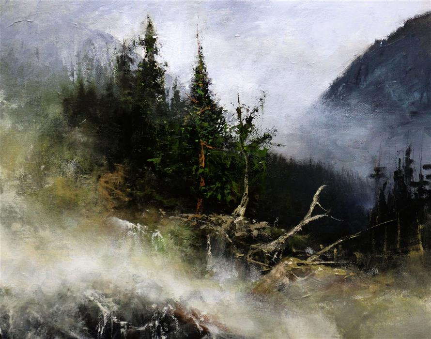 Original art for sale at UGallery.com | Early Thaw by Kent Sullivan | $1,550 | oil painting | 16' h x 20' w | ..\art\oil-painting-Early-Thaw
