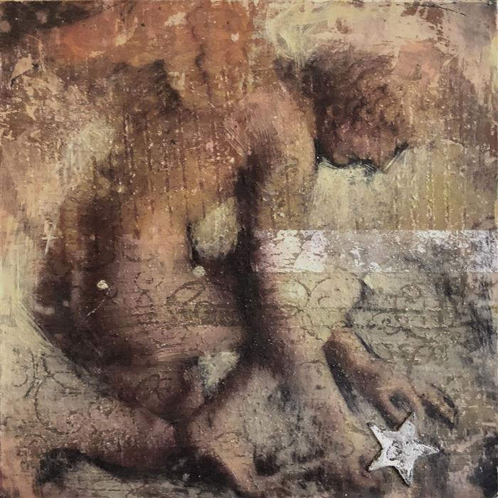 Original art for sale at UGallery.com | Star Gazer by Darlene McElroy | $375 | mixed media artwork | 8' h x 8' w | ..\art\mixed-media-artwork-Star-Gazer