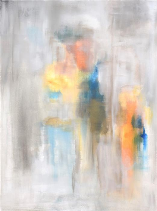 Original art for sale at UGallery.com | The Reunion by Jenn Williamson | $2,850 | acrylic painting | 48' h x 36' w | ..\art\acrylic-painting-The-Reunion
