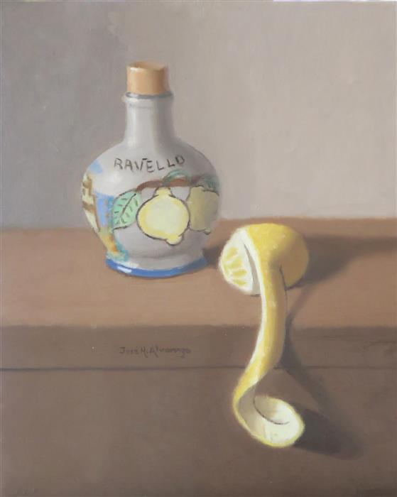 Original art for sale at UGallery.com | Lemon Delight by Jose H. Alvarenga | $425 | oil painting | 10' h x 8' w | ..\art\oil-painting-Lemon-Delight