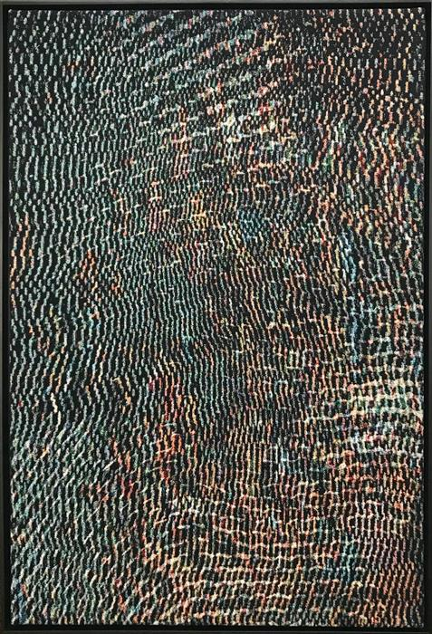Original art for sale at UGallery.com | Crowds (Soft Synthesis) by Jack R. Mesa | $5,000 | fiber artwork | 54' h x 37' w | ..\art\fiber-artwork-Crowds-Soft-Synthesis