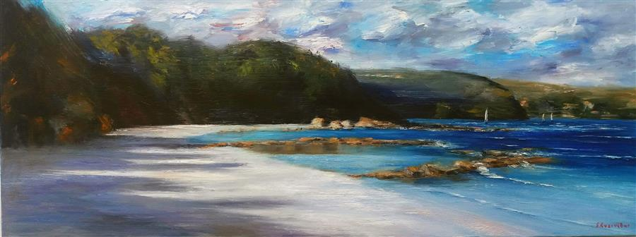 Original art for sale at UGallery.com | Sithonia Halkidiki by Sokratis Evgenidis | $1,600 | oil painting | 16' h x 43' w | ..\art\oil-painting-Sithonia-Halkidiki