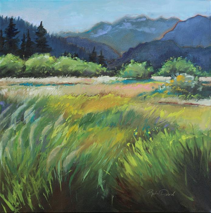 Original art for sale at UGallery.com | Lofty Meadows by RACHEL DOWD | $650 |  | 24' h x 24' w | ..\art\oil-painting-Lofty-Meadows